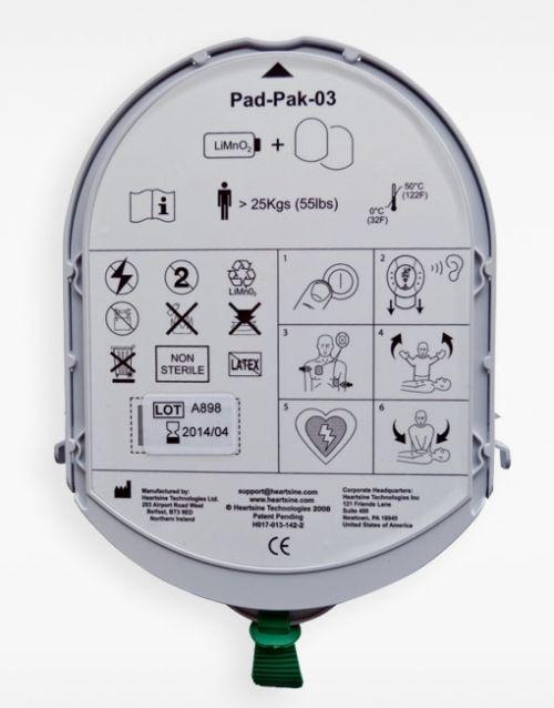 Electrodos o pads de adultos y batería Samaritan
