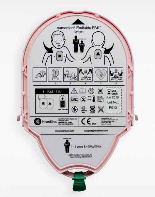 Electrodos o pads de pedíatrico y batería Samaritan