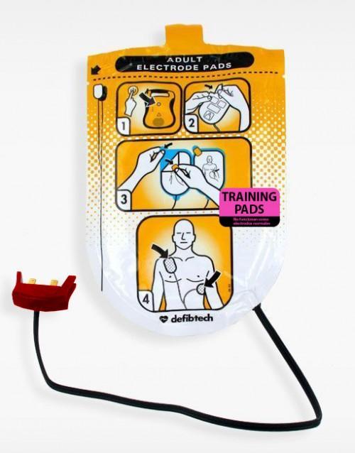 Kit electrodos o Pads Entrenamiento Defibtech